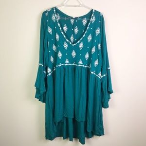 Torrid High Low Embroidered Tunic